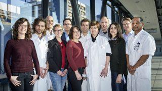 Groepsfoto team MG in LUMC